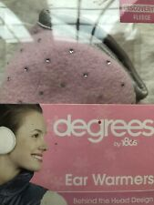 Degrees Ear Warmers For Kids, Pink With Rhinestones