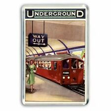 RETRO LONDON UNDERGROUND (TUBE /SUBWAY ) RAILWAY ADVERT JUMBO FRIDGE MAGNET