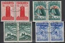 Nederland gestempeld 1933 used 257-260 paar - Zeemanszegels (04)