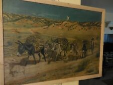Oil on Canvas Painting of Man with Hauling Mules  Alice Abbott Drisdale, 1883.