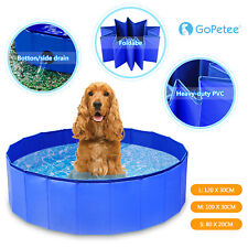 More details for portable pet bath pool foldable pvc swimming pool dog paddling bathing water tub