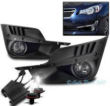 15-16 SUBARU IMPREZA BUMPER DRIVING FOG LIGHT LAMP CHROME W/50W 6000K HID+SWITCH
