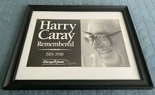 Harrry Caray Framed Picture (Glass)
