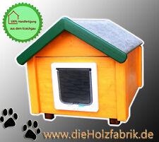 Outdoor Katzenhaus wetterfest mit Katzenklappe - KS2-J