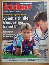 KICKER 70 - 26.8. 1996 * St.Pauli-Schalke 4:4 Duisburg-Bayern 0:4 1860-BVB 1:3