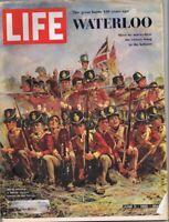 ORIGINAL Vintage Life Magazine June 11 1965 Waterloo