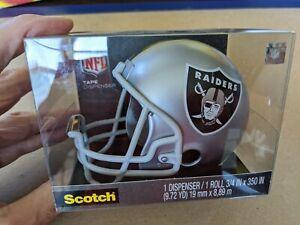 Oakland Raiders Football Helmet 3M Scotch Tape Dispenser New