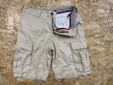 Vintage Tommy Hilfiger Men's Cargo Chino Shorts W29 Beige Zip Fly