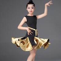 New Kids Ballet Latin Dancwear Dress Girl Skirt Children Show Dancing Costumes