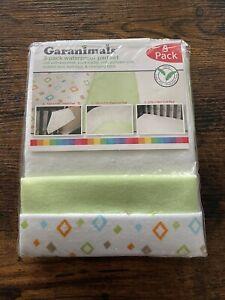 Garanimals 3 Pack Waterproof Pad Set Travel, Bassinet, Crib Pads NEW A1