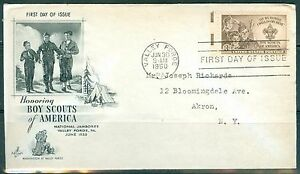 US FDC 995 Boy Scouts Cancel Valley Forge PA. Jun30-1950 Addr
