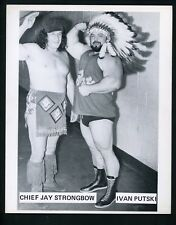 Chief Jay Strongbow & Ivan Putski Wrestling Champion circa 1970's Promo Photo