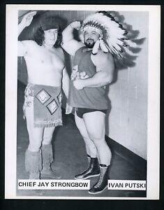Chief Jay Strongbow & Ivan Putski Wrestling Champion circa 1970's Promo Photo