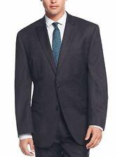 Calvin Klein Wool  Pinstripe Peak Lapel Slim Fit FX1523 Men's Navy Suit  40 Long