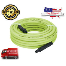 "Flexzilla Heavy Duty Rubber Air Hose Compressor Fittings Garage Tool 1/4"" x 50'"