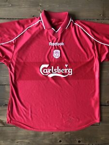 Retro Liverpool FC Football Reebok Home Shirt 2000/2002 Size XL Some Defects