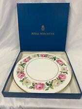 Vintage 1983 Royal Worcester Royal Garden Elgar Cake Plate (Boxed)
