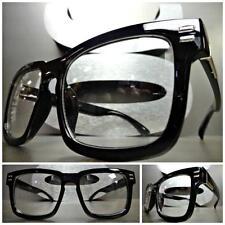 Men or Women VINTAGE 50's RETRO Style Clear Lens EYE GLASSES Black Fashion Frame
