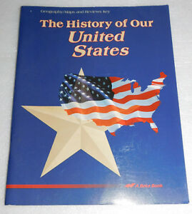 A Beka History Our United States 4 Teacher Key Geography Maps Reviews Key Grade