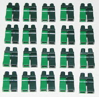 LEGO LOT OF 20 NEW MULTI COLORED LIGHT AND DARK GREEN LEGS MINIFIG PANTS