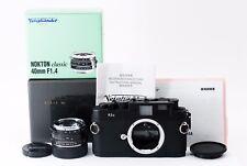 【Exc+++】Voigtlander Bessa R3A Black body Nokton 40mm f1.4 SC Lens SET 229209