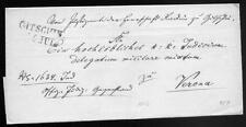 ÖSTERREICH 1846 VORPHILABRIEF von GITSCHIN nach VERONA (D0896