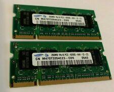 Samsung Pair 256MB (x2) DDR2 533 MHz PC2-4200S SO-DIMM/SODIMM/Laptop RAM Memory