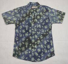 McGregor Leopardo Camisa Azul Oxford Fundido De Colección * para Hombre * Vintage Floral Hawaiano 90s