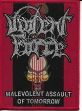 VIOLENT FORCE-MALEVOLENT ASSAULT OF TOMORROW-WOVEN PATCH-THRASH METAL