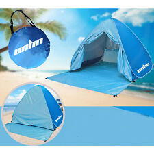 2In 1 Portable Pop Up Beach Sun Shade Shelter Camping Pad Fishing Tent, Sky Blue