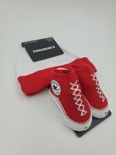 Converse Chuck Taylor Baby Hat & Booties Gift Set, 0-6 Months, Red, White L23