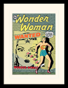Wonder Woman Wanted Framed & Mounted Print