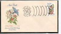 US SC # 1984 State Birds And Flowers ( New York ) FDC. HF Cachet .