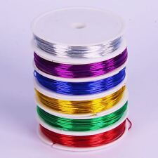 Coloured Metal Craft Wire for Kids Bendy Mouldable & Assorted Colours 6 Pack 12m