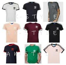 Para Hombre Adidas Originales Trébol California Camisetas Camiseta Cuello Redondo Retro S M L XL
