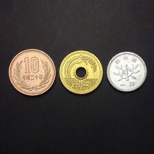 Japan SET 3 Coins, 1 5 10 Yen, Random year, UNC
