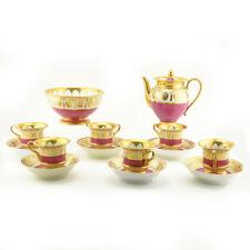 14 Pc Antique Russian Imperial Porcelain Factory Tea Set