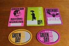 Green Day - 5 x Backstage Pass - lot - FREE POSTAGE -
