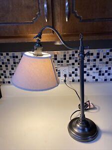AC Pottery Barn Industrial Task Desk Lamp Model Adjustable Bronze Grayish