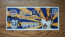 SUPER BOWL XXXIV ( 34 ) Kurt Warner MVP Event Cover St. Louis Rams 1/30/2000