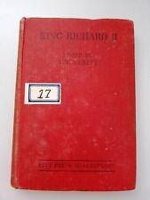 1945 Antiquarian Vintage Book KING RICHARD II Pitt Press Shakespeare for Schools
