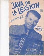"""PARTITION  REG / ALBERT HUARD """"LA JAVA DE LA LEGION"""""""