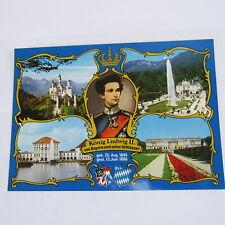 Germany Picture Post Card König Ludwig II von Bayern King Bavaria Vintage Mailer
