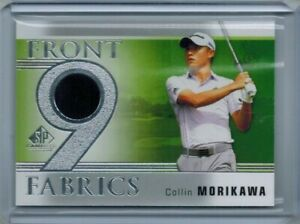 2021 UPPER DECK SP GAME USED COLLIN MORIKAWA FRONT 9 FABRICS TOURNAMENT RELIC