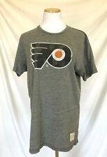 Vintage Style T-Shirt Philadelphia Flyers Retro Brand Gray Men's Size Large