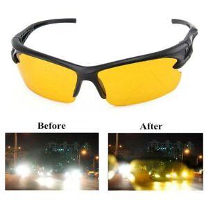 Night Driving Glasses HD Anti Glare Vision Polarized Yellow Lens Tinted Unisex