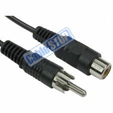 1m RCA Phono AV Audio Video EXTENSION Cable Male Plug to Female Socket CCTV Lead