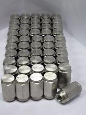 50 pack - 1/2-20 Solid 304 Stainless Steel Lug Nuts trailer wheel