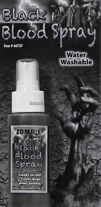 Zombie Fake Black Blood Spray Makeup Walking Dead Halloween Costume Accessory