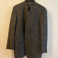 Men's outer tailored jacket ISSEY MIYAKE One Size Wool Cupra Hemp gray J2654